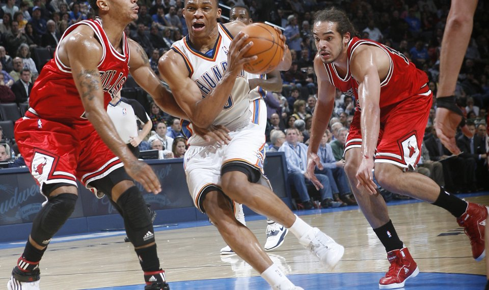 Russell Westbrook Replacing Derrick Rose In Tonight S Skills Challenge