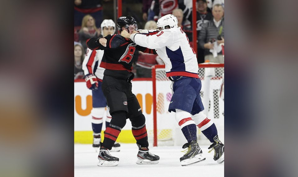 sports shoes bdea0 79527 Ovechkin punch puts Carolina rookie into concussion protocol