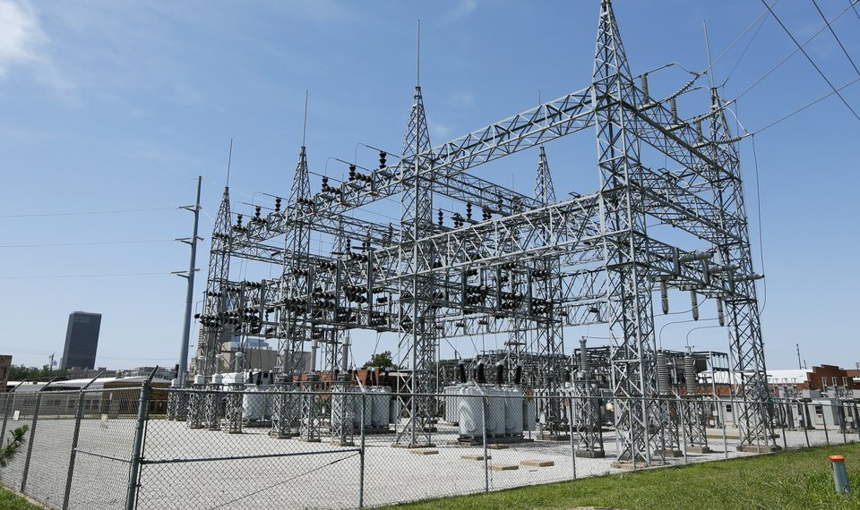 A Substation Is Shown In Northeast Oklahoma City Gas And Electric Co