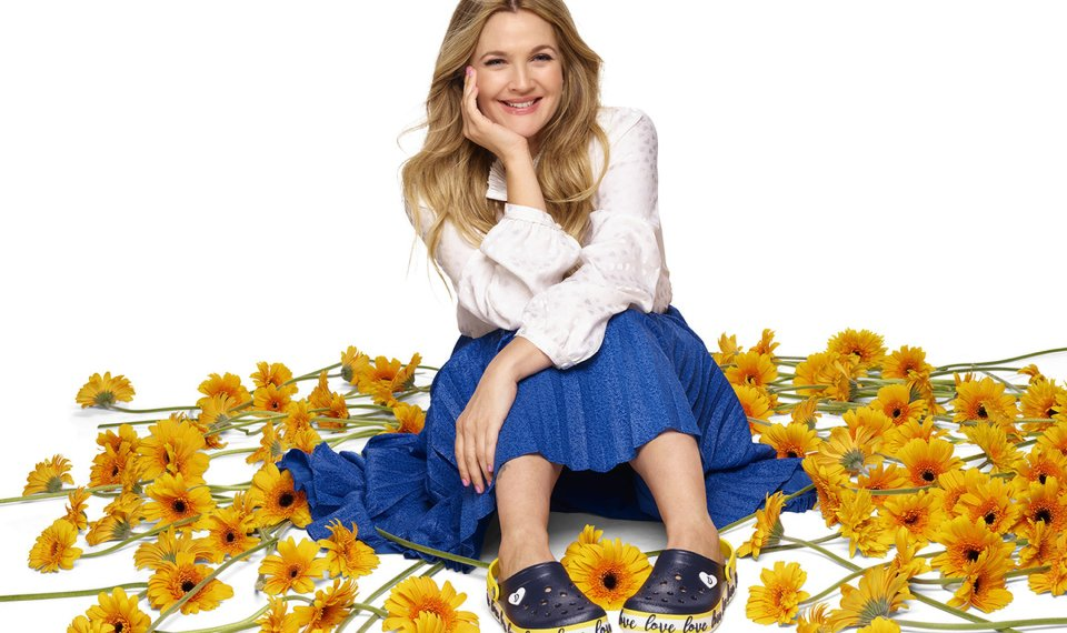 85a1d7d920f8 Related Photos Drew Barrymore wears the Crocband Clog from her Drew  Barrymore ♥ Crocs Color-Block collection
