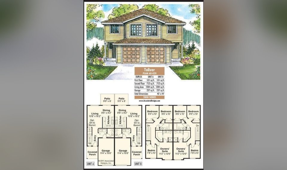 House Plan: The Toliver duplex offers ample room in narrow space on luxury house plans with, mediterranean house plans with, charleston style house plans with, two story house plans with, small house plans with, country house plans with, modern house plans with, log house plans with, european house plans with, tiny house plans with, craftsman house plans with,