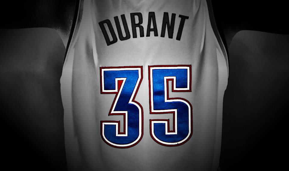 best website d2c91 39b1b Why 35? The story behind a jersey number and Kevin Durant's ...