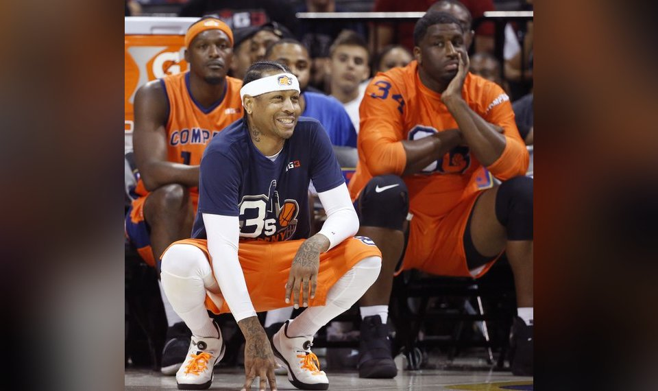 Allen Iverson has played sparingly in his role as a player-coach in the  inaugural 76b141357