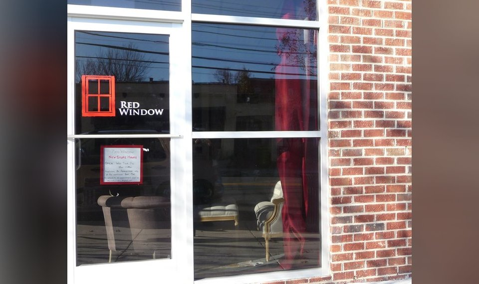 Left: The Late Elizabeth Edwards Started The Red Window, A Furniture Shop  In Chapel