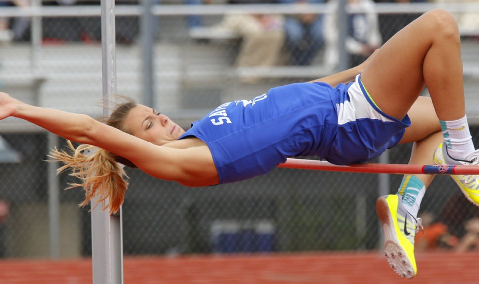 Kristen Perry Of Savanna High School Clears The Bar During The 2a And A State Championship