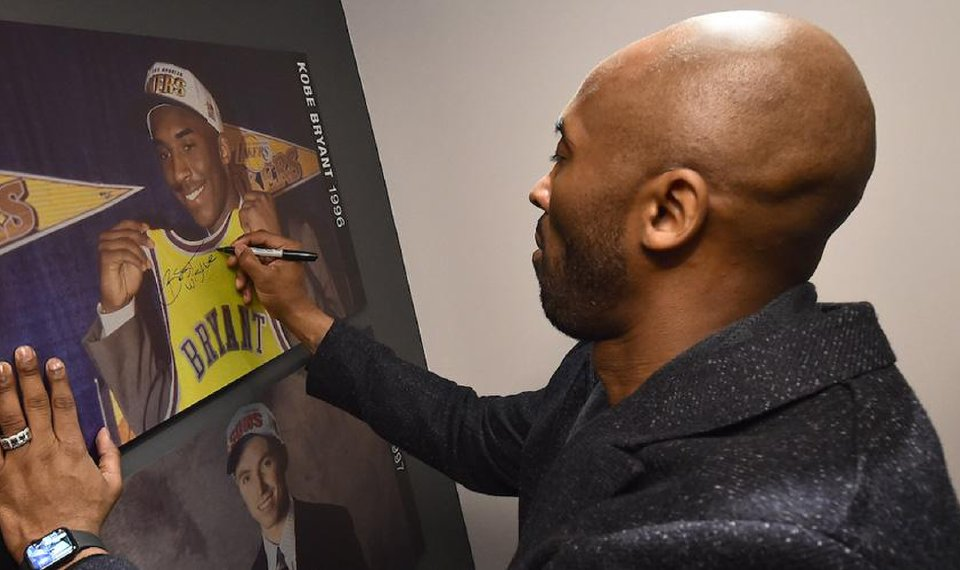99c5a07a1fb Kobe Bryant Visits NBA Store in NYC to Celebrate His New Book  The Wizenard  Series  Training Camp !