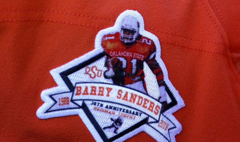 sports shoes defc8 4d9f8 Barry Sanders thanks OSU for homecoming celebration