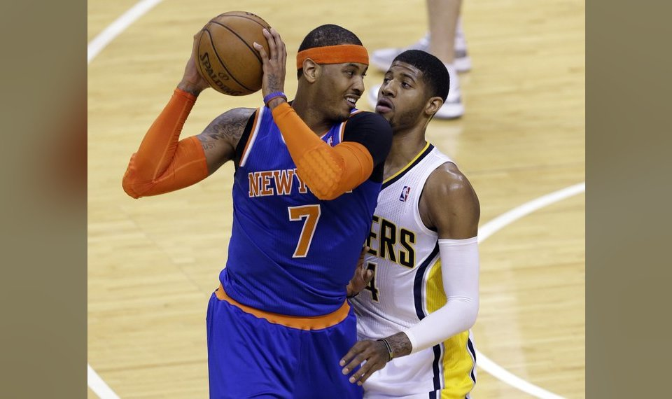 Related P Os Paul George Defends Carmelo Anthony During A May 2013 Game In Indianapolis
