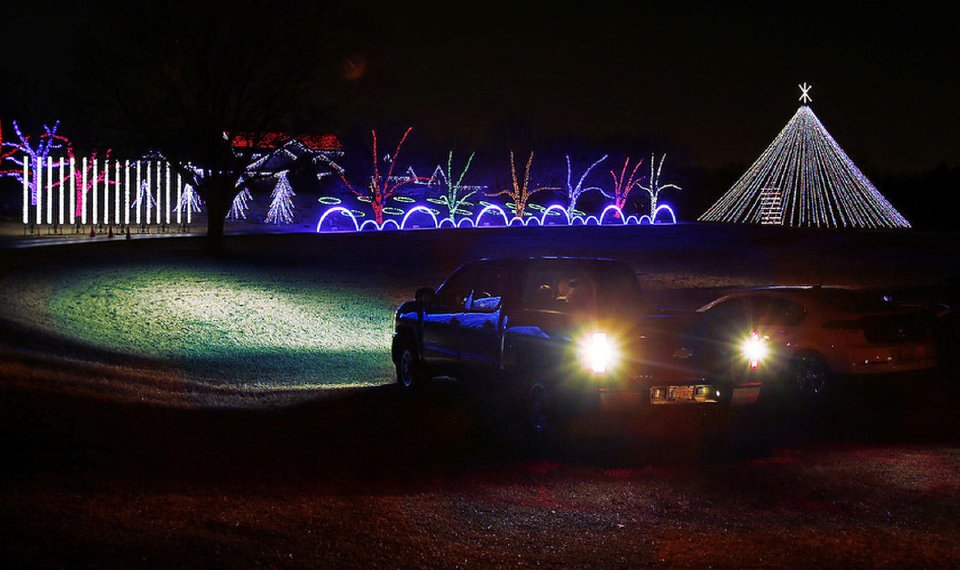 downs family christmas offers 13 miles of lights in norman