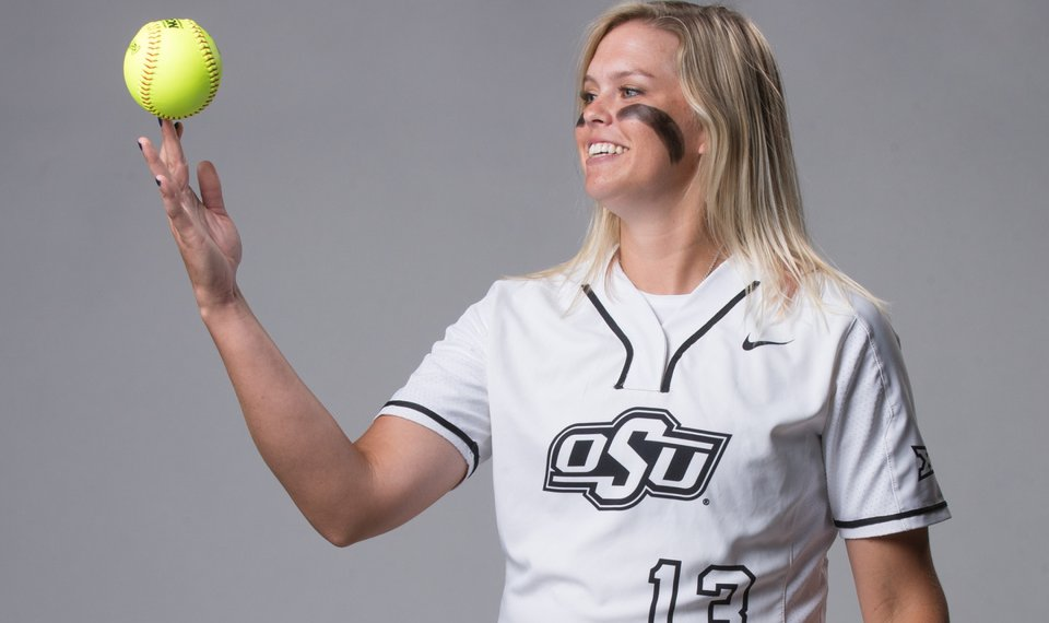 cce750304 Oklahoma State's Samantha Show has been an instant boost as a pitcher and  hitter. [