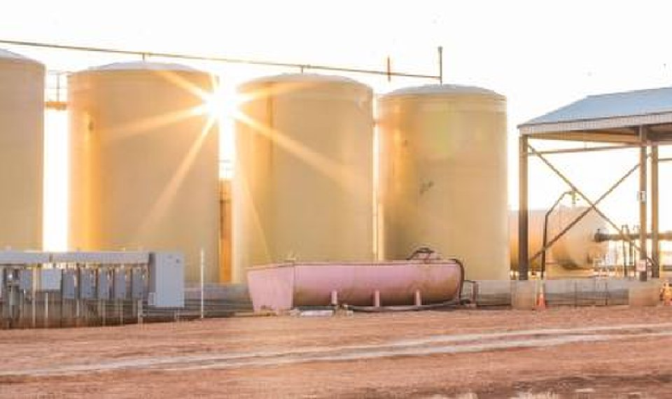 <strong>The company owns saltwater disposal facilities across the larger Anadarko Basin, a water recycling center with 1.2 million barrels of storage capacity and owns and operates a fleet of water hauling trucks. [Provided]</strong>