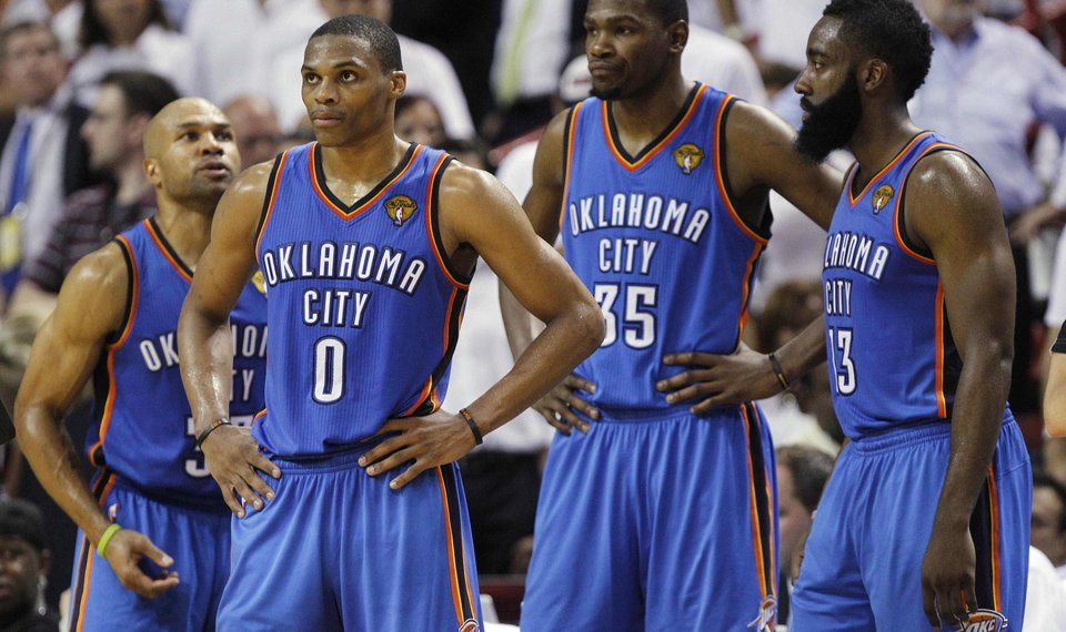 71512b7db8a The Oklahoma City Thunder had a championship-type core in 2012 with Russell  Westbrook