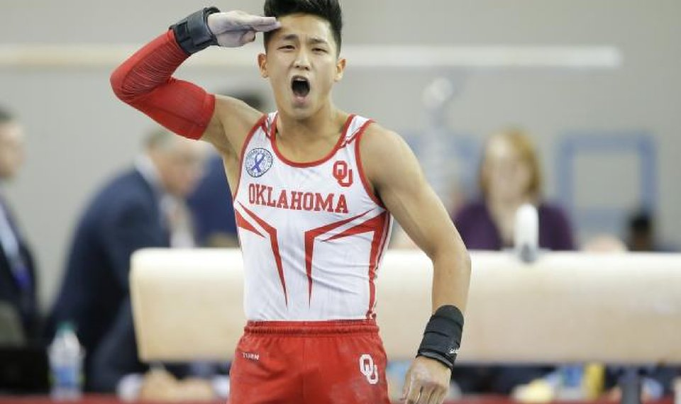 OU's Yul Moldauer wins 'Heisman Trophy' of gymnastics