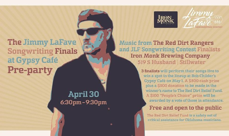 Jimmy LaFave Songwriting Contest finalists to perform free show in