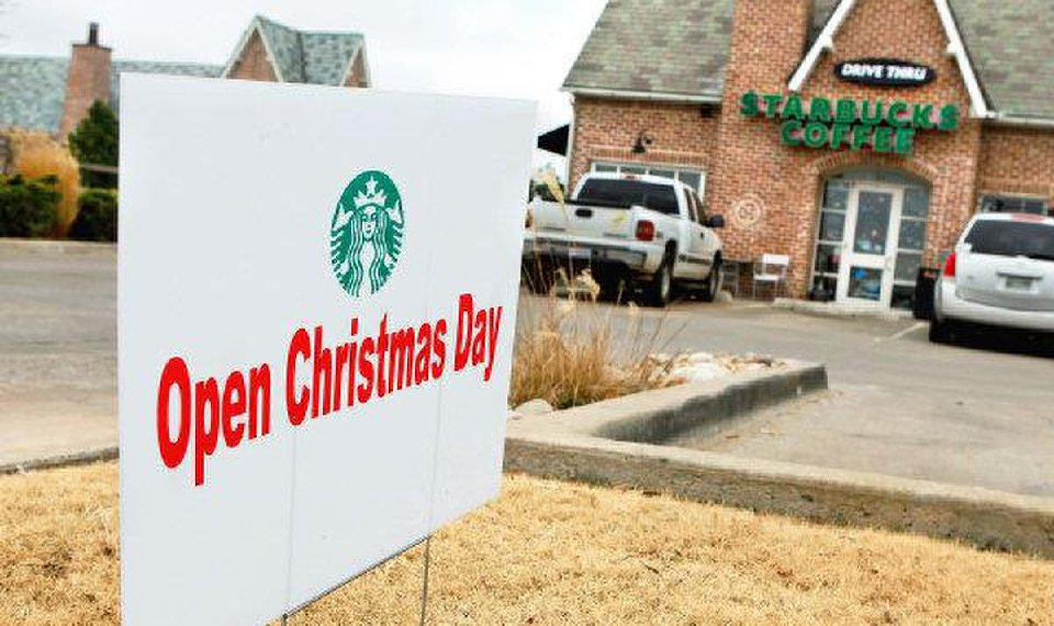 related photos a sign outside this starbucks at 15th and broadway in edmond lets customers know they will - Is Whataburger Open On Christmas Day