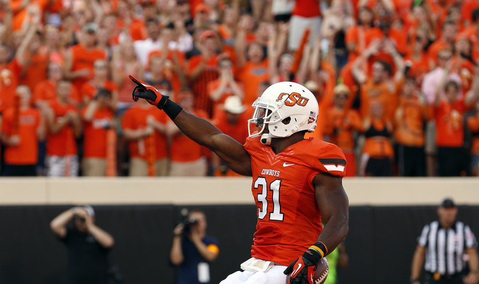 Oklahoma State Football Cowboy Running Backs Show Off Their