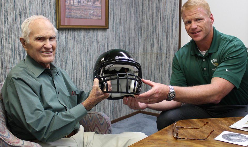 Catching Up With Larry Harris 1940 Oklahoma Baptist Football Player