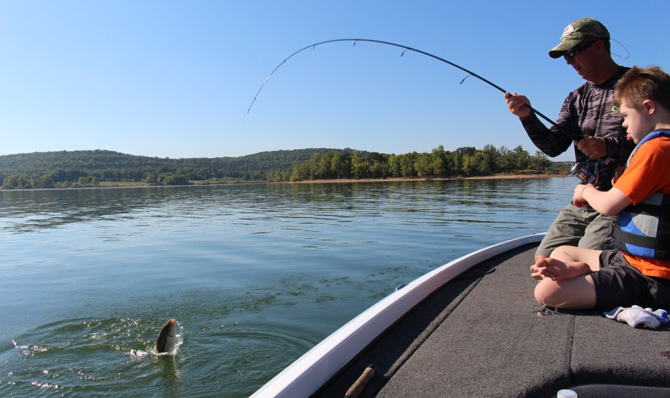 Fishing With Cade Table Rock Lake Provides A Memorable