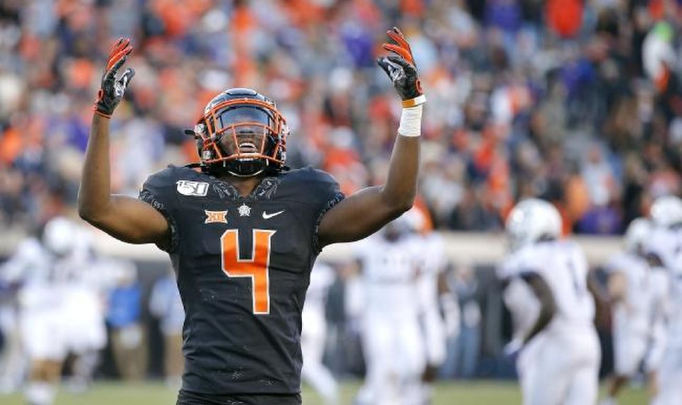 Oklahoma State's A.J. Green (4) will compete at the NFL Scouting Combine on Sunday. [Sarah Phipps/The Oklahoman]