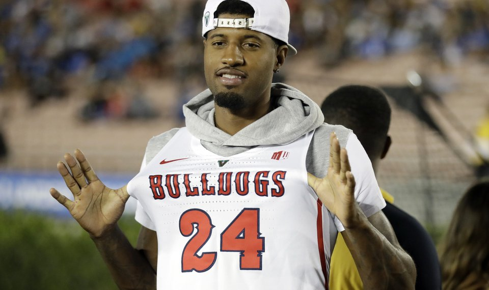 official photos fd76c 1ec4b Paul George and Fresno State: There's nothing but love ...