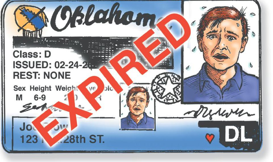 renew oklahoma drivers license by mail