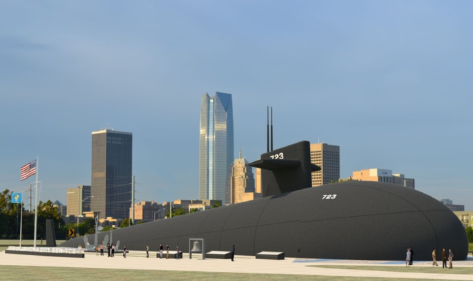 uss oklahoma city submarine would serve as centerpiece of proposed