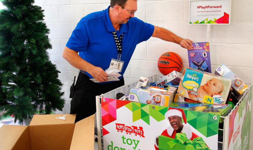 marine toys for tots drive kicked off in oklahoma city - What Time Does Toys R Us Close On Christmas Eve