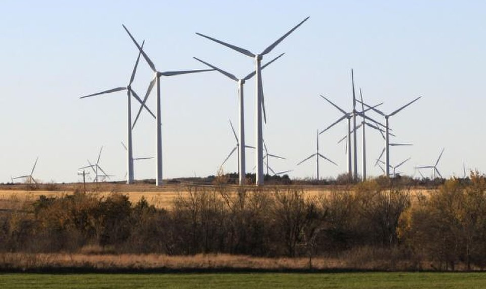 The Minco II wind farm southwest of Minco, is seen in 2016. Oklahoma has about 8 gigawatts of wind-generated energy installed, so far. [OKLAHOMAN ARCHIVES]