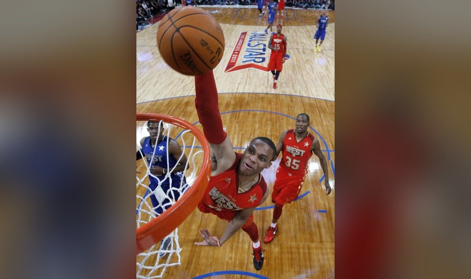 Thunder S Russell Westbrook Kevin Durant Arrive At All Star Game