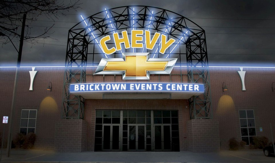 Oklahoma Chevy Dealers >> Chevy Adds Name To Bricktown Events Center In Oklahoma City