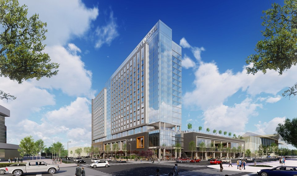 Plans For The 605 Room Omni Show A Hotel Fronting Future Boulevard Across
