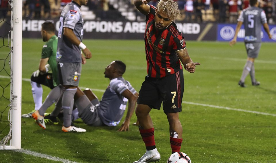 db6f4db99 Atlanta United foward Josef Martinez reacts to his goal against C.S.  Herediano during a CONCACAF Champions
