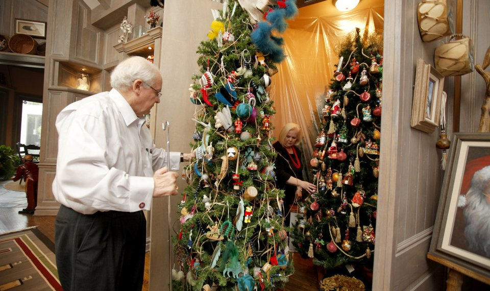 related photos christmas tree decorations larry derryberry and gale derryberry roll their christmas trees out of a