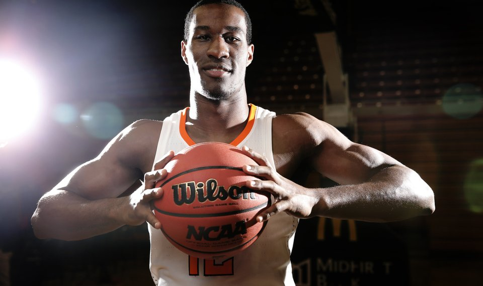 <p>Oklahoma State junior Cam McGriff has worked to teach the Cowboys' four freshman forwards leading to Saturday's season opener at Charlotte. [PHOTO BY SARAH PHIPPS, THE OKLAHOMAN]</p>