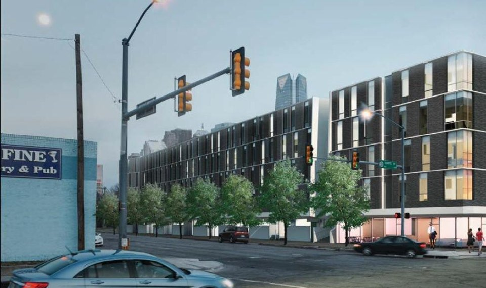 five story apartments proposed for west downtown oklahoma city arts