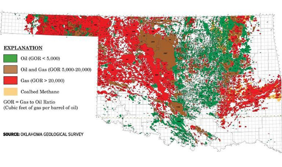 Leflore County Oklahoma Map.Geologist S New Maps Detail Updated Oil Field Activity Across Oklahoma