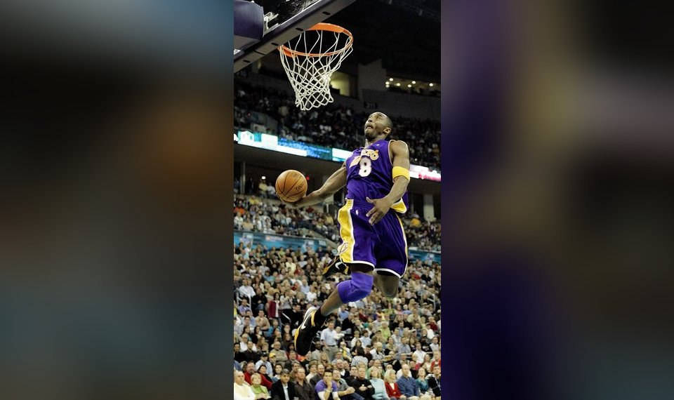 Related Photos Kobe Bryant of the Los Angeles Lakers dunks during a  February 2006 game against the New 5280718da