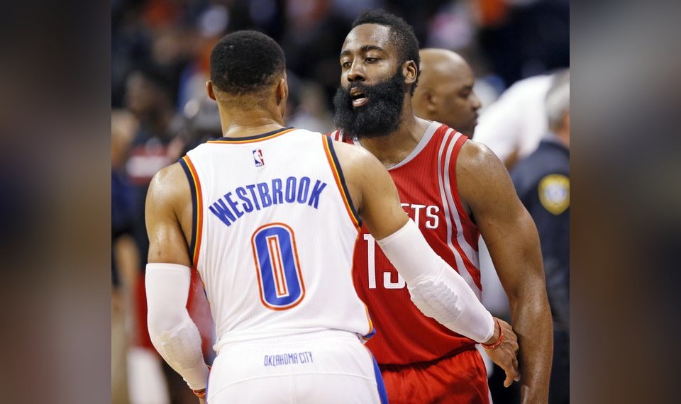 wholesale dealer ac605 46241 James Harden reflects on Russell Westbrook, Thunder days in ...
