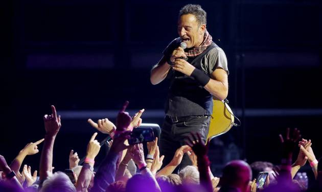 Bruce Springsteen performs with the E Street Band on April 3 during aconcert at Chesapeake...