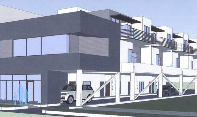 two story office building plans. Plans For The Row On 12 At 435 NW Show How A Two-story Two Story Office Building