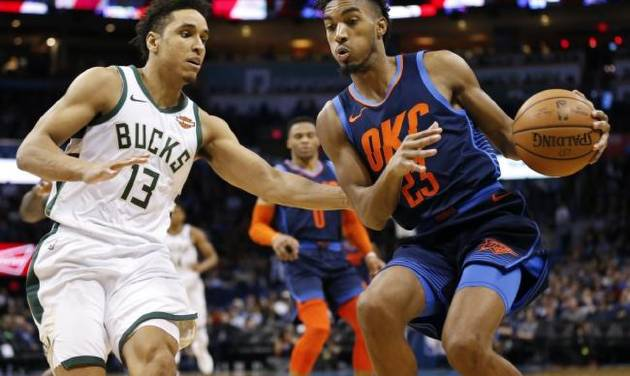 c8b3a945fa6 Thunder guard Terrance Ferguson plans to 'build up' his body to make  another defensive jump