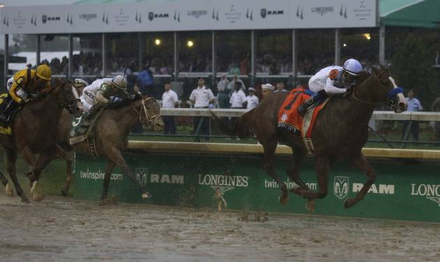 Mike Smith Rides Justify To Victory During The Th Running Of The Kentucky Derby Horse Race At Churchill Downs Sa Ay May   In Louisville Ky