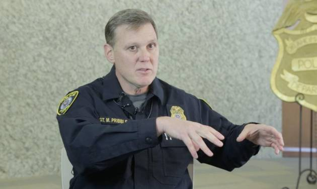 Oklahoma City Sgt. Mike Pribble talks about his experience Friday of flying on Southwest...
