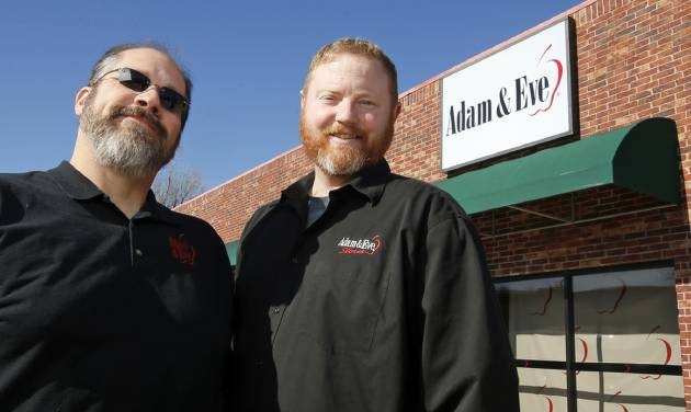 Lennox Ryerson-Gonzalez, left, and Andrew Ryerson-Gonzalez opened their Adam & Eve franchise...