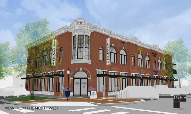 Developer in downtown edmond oklahoma buys former farmers grain an artists rendering of 15683 square foot campbell corner at 118 n broadway in sciox Gallery