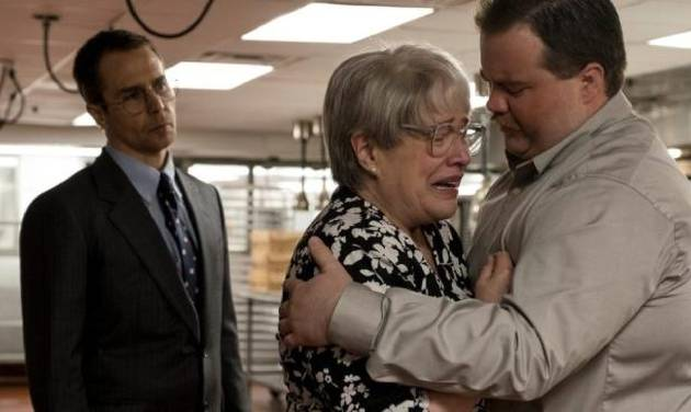 "From left, Sam Rockwell, Kathy Bates and Paul Walter Hauser star in ""Richard Jewell."" [Warner Bros. photo]"