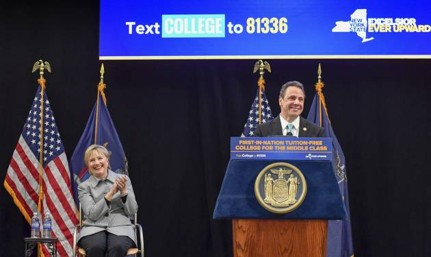 College Free Tuition: Hillary Clinton Joins Gov. Cuomo For Signing Ceremony