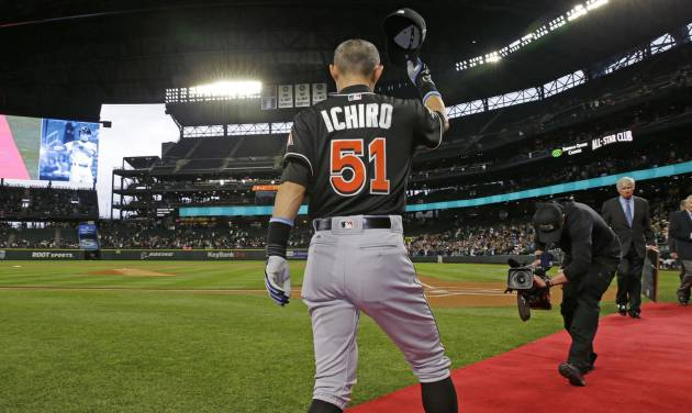 Ichiro hits home run in potential final at-bat in Seattle
