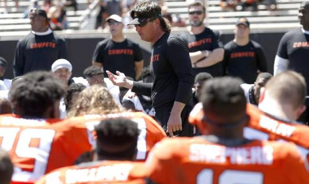0923108b1b4a OSU football: Mike Gundy is energized and says he plans to coach longer than  he originally planned