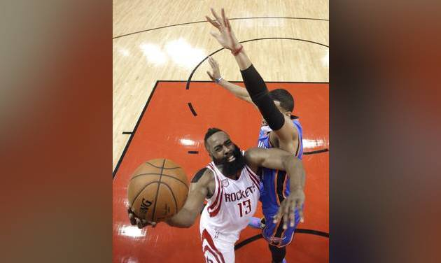 Basketball - Harden's Rockets oust Westbrook's Thunder from NBA playoffs